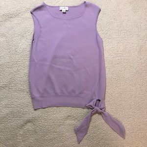 NWOT LOFT side tie sleeveless top